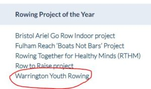 British Rowing Project of the Year 2020